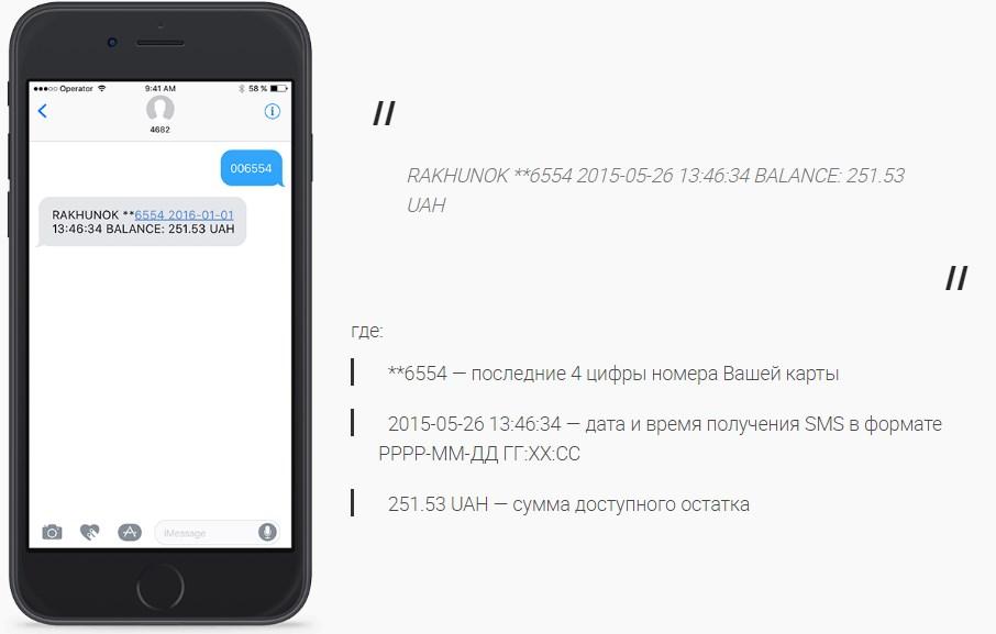 Як дізнатися баланс картки ПриватБанку через SMS (СМС)?